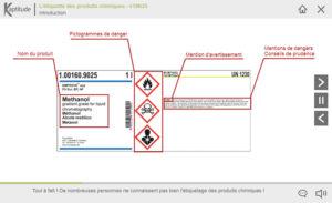 L'étiquette des produits chimiques