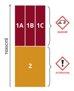 Classe de danger 2 : Corrosion ou irritation cutanée