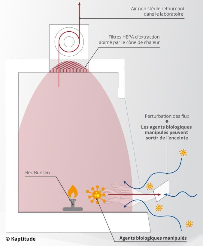 Perturbations des flux liées à l'utilisation du bec Bunsen